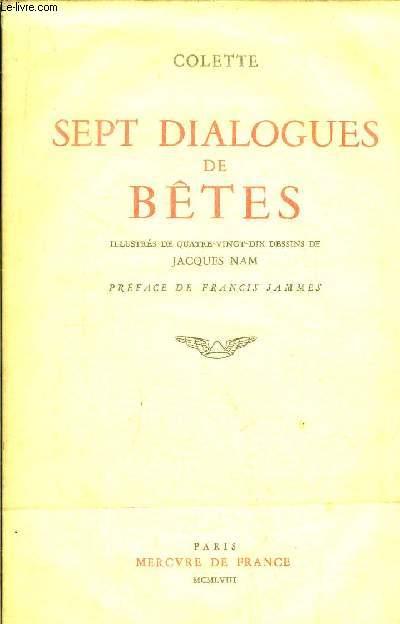 SEPT DIALOGUES DE BETES