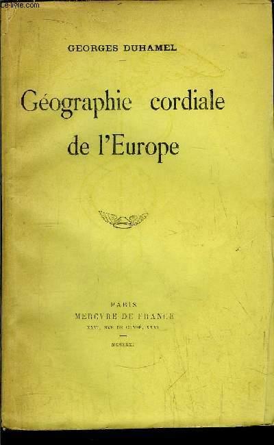 GEOGRAPHIE CORDIALE DE L'EUROPE