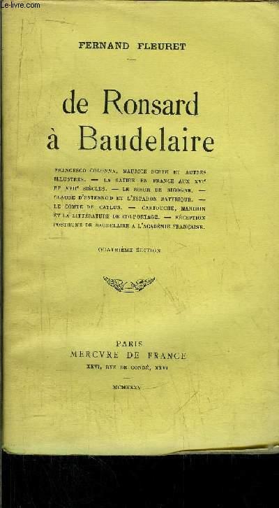 DE RONSARD A BAUDELAIRE
