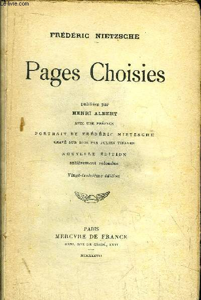 PAGES CHOISIES
