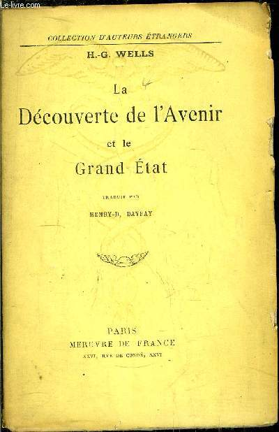 LA DECOUVERTE DE L'AVENIR ET LE GRAND ETAT