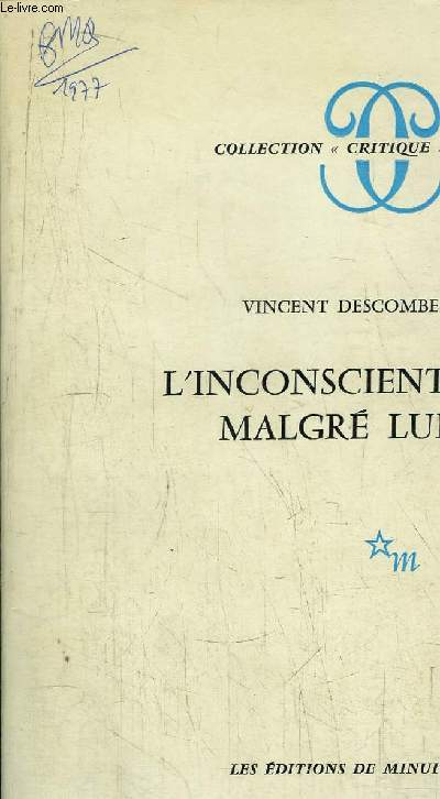 L'INCONSCIENT MALGRE LUI - COLLECTION