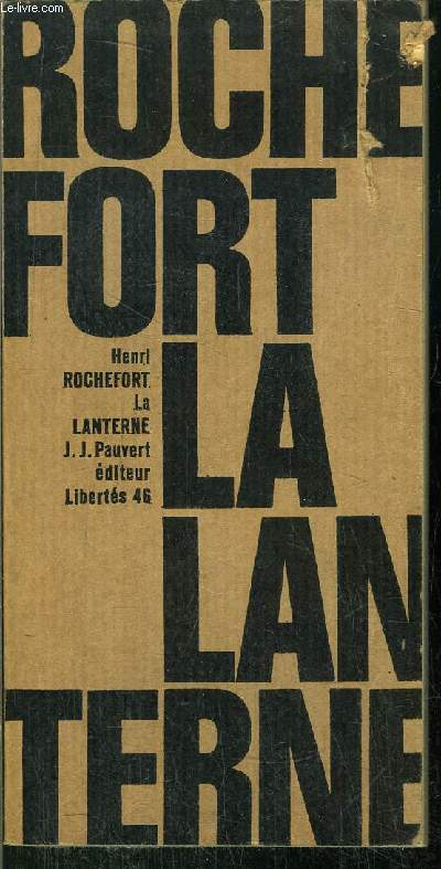 LA LANTERNE - COLLECTION LIBERTES N°46