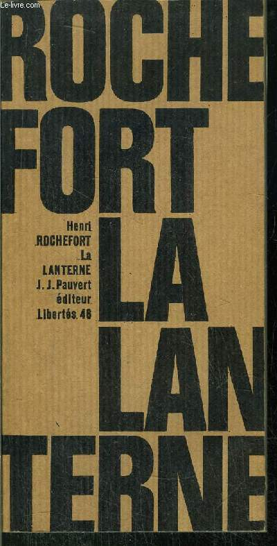 LA LANTERNE - COLLECTION LIBERTES N°46
