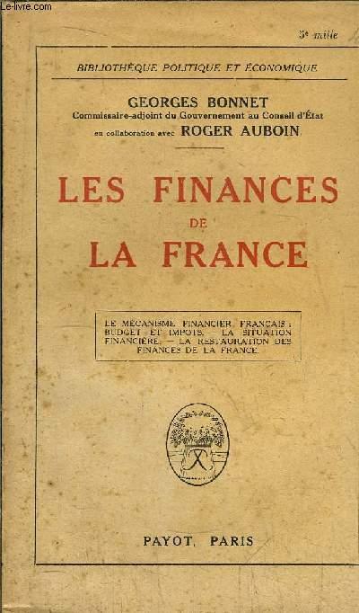 LES FINANCES DE LA FRANCE