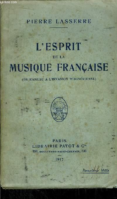 L'ESPRIT DE LA MUSIQUE FRANCAISE