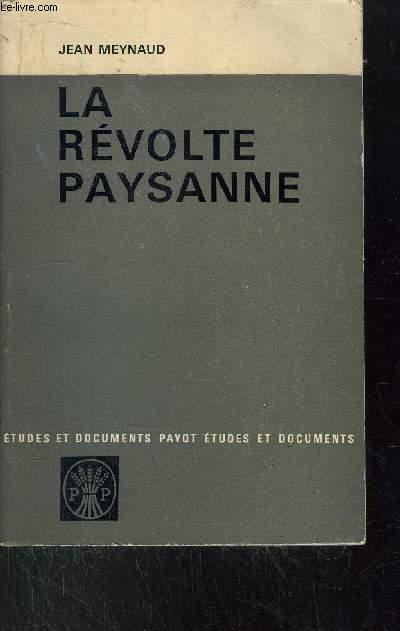 LA REVOLTE PAYSANNE