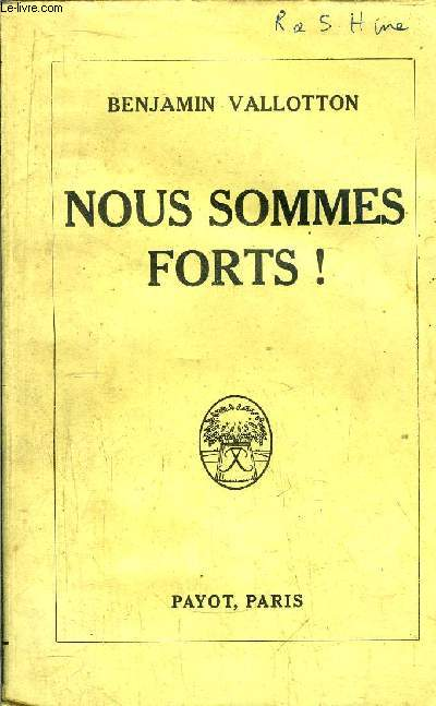 NOUS SOMMES FORTS !