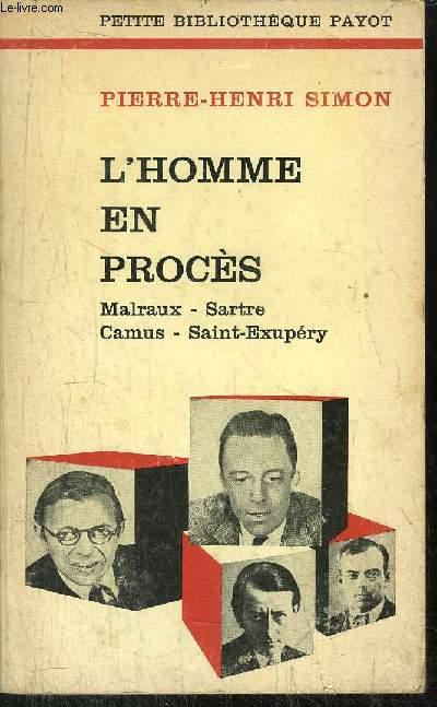 L'HOMME EN PROCES -  - COLLECTION PETITE BIBLIOTHEQUE N°72