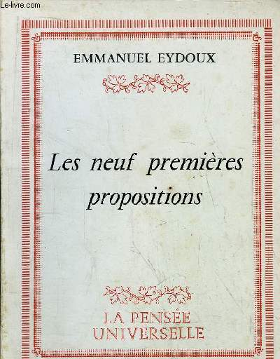 LES NEUF PREMIERES PROPOSITIONS