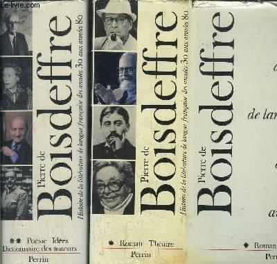 HISTOIRE DE LA LITTERATURE DE KANGUE FRANCAISE - DES ANNEES 1930 AUX ANNEES 1980 - TOME I +II - 2 VOLUMES