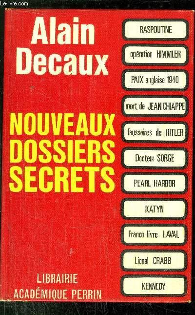 NOUVEAUX DOSSIERS SECRETS
