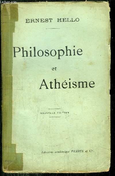 PHILOSOPHIE ET ATHEISME