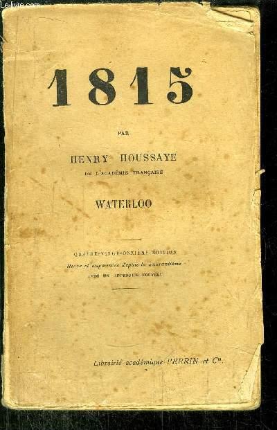 1815 - WATERLOO