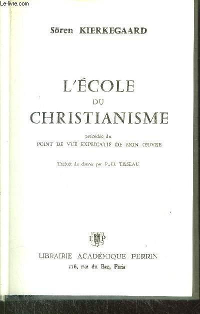 L'ECOLE DU CHRISTIANISME