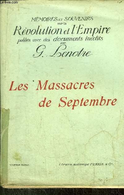 LES MASSACRES DE SEPTEMBRE