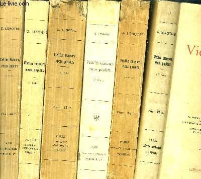 VIEILLES MAISONS VIEUX PAPIERS - 6 VOLUMES - TOME I+II+III+IV+V+VI / Sommaire : 1ère série : Le roman de camille desmoulins - Mlle de Robespierre - Deux policiers - Savalette de Langes - Les derniers Jours d'A. CHENIER - ....