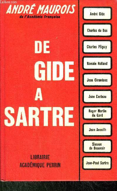 DE GIDE A SARTRE