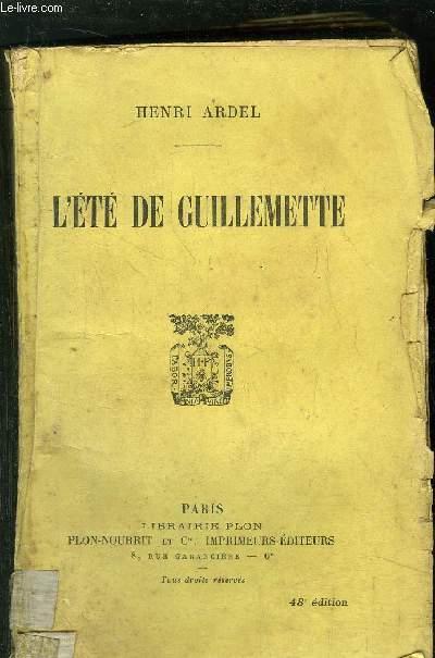 L'ETE DE GUILLEMETTE