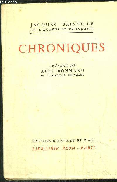COLLECTION BAINVILLIENNE - TOME IV - CHRONIQUES