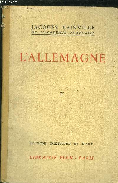 COLLECTION BAINVILLIENNE - L'ALLEMAGNE TOME II