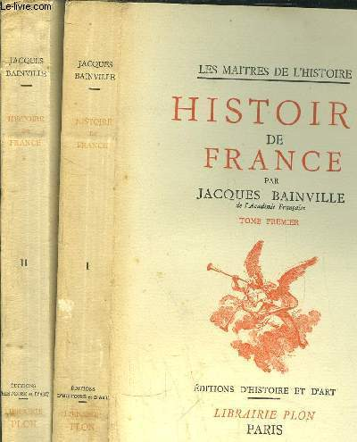 HISTOIRE DE FRANCE- 2 VOLUMES - TOME I+II