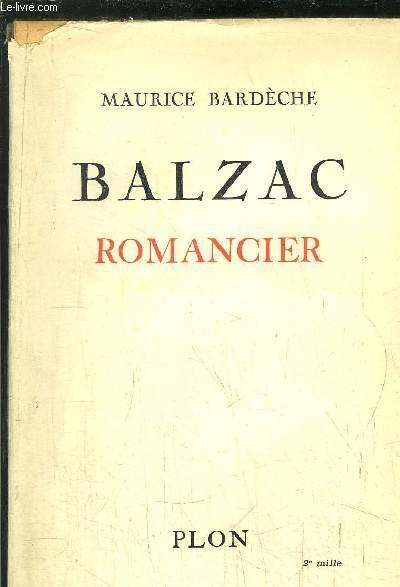 BALZAC - ROMANCIER