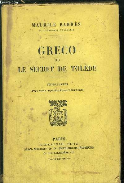 GRECO OU LE SECRET DE TOLEDE