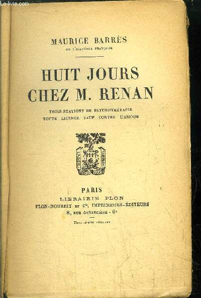 HUIT JOURS CHEZ M. RENAN
