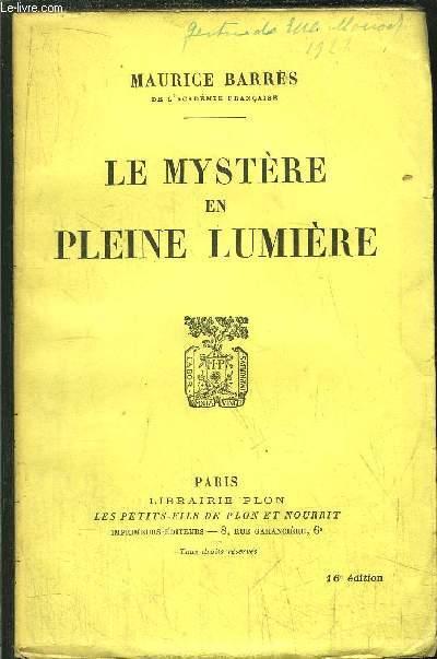 LE MYSTERE EN PLEINE LUMIERE