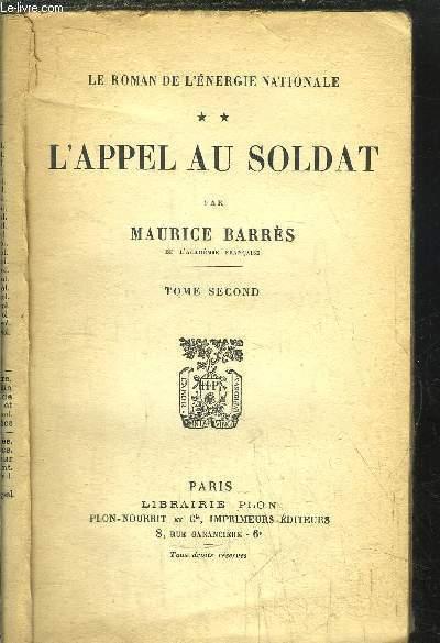 L'APPEL AU SOLDAT - TOME II