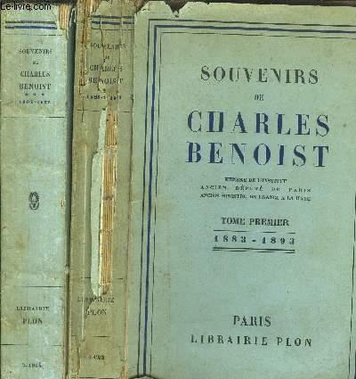 SOUVENIRS DE CHARLES BENOIST - TOME I+III - DE 1883-1893 / DE 1902-1933