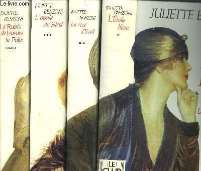 LE BOITEUX DE VARSOVIE - 4 VOLUMES - TOME I+II+III+IV - L'ETOILE BLEUE - LA ROSE D'YORK - L'OPALE DE SISSI - LE RUBIS DE JEANNE LA FOLLE