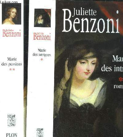 MARIE DES INTRIGUES - MARIE DES PASSIONS - 2 VOLUMES - TOME I+II