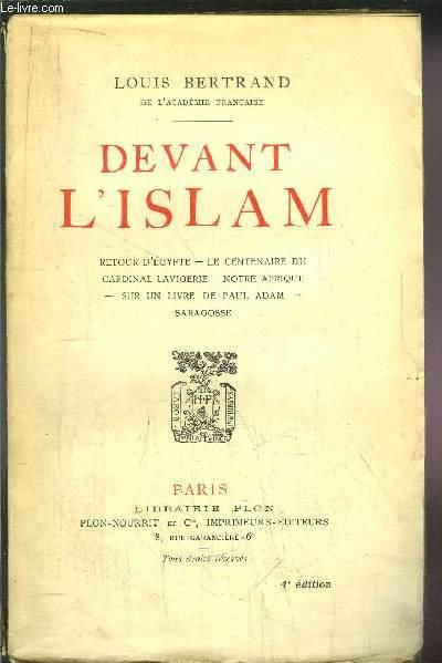 DEVANT L'ISLAM