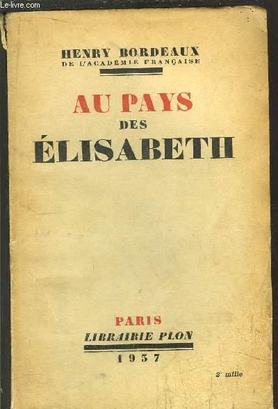 AU PAYS DES ELISABETH