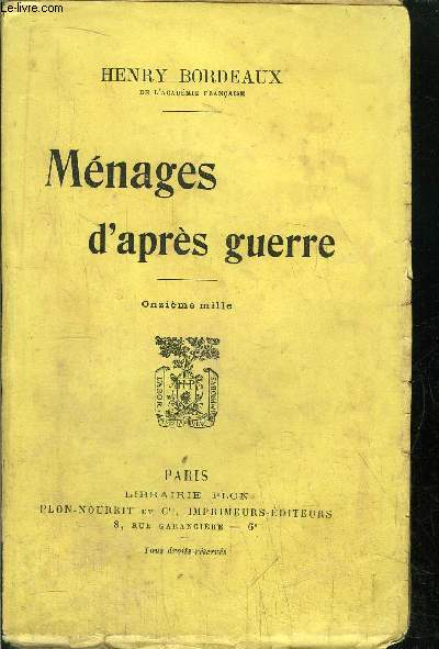 MENAGES D'APRES GUERRE