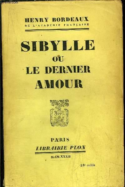 SIBYLLE OU LE DERNIER AMOUR