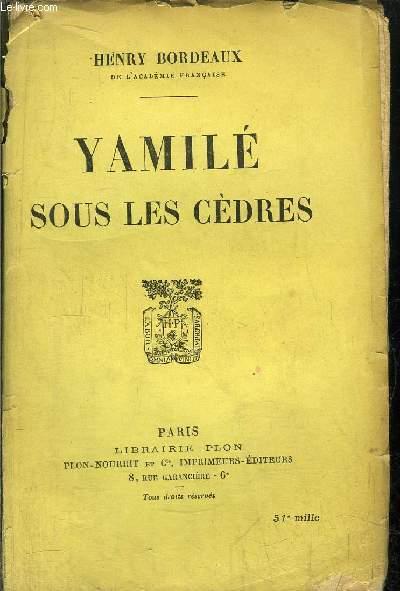 YAMILE SOUS LES CEDRES