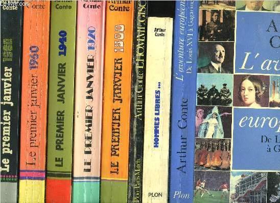 LOT DE 8 LIVRES : Sommaires des titres en notice : Sommaires des titres : L'aventure européenne, De Louis XVI à Gagarine - Hommes libres... - L'homme Giscard - le premier janvier 1900 - Le premier janvier 1920 - Le premier janvier 1940...
