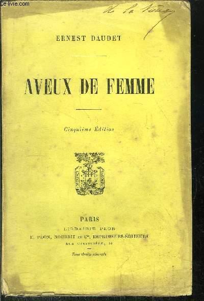 AVEUX DE FEMME