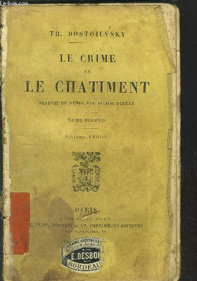 LE CRIME ET LE CHATIMENT