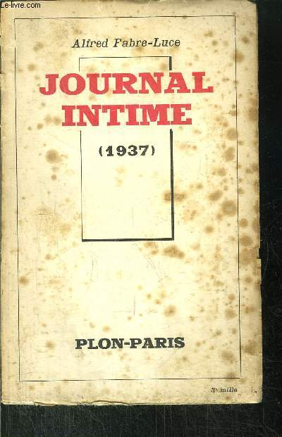 JOURNAL INTIME 1937