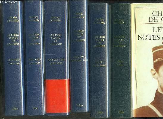 LETTRES NOTES ET CARNETS- 13 VOLUMES / 1905-1918 / 1919 - JUIN1940 / JUIN 1940 - JUILLET 1941 / JUILLET 1941 - MAI 1943 / JUIN 1943 - MAI 1945 / 8 MAI 1945 - 18 JUIN 1951 / JUIN 1951 - MAI 1958 / JUIN 1958 - DECEMBRE 1960 / 1961 - 1963...