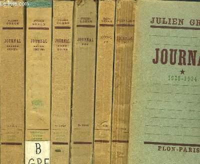 JOURNAL - 6 VOLUMES - TOMES I+II+III+IV+V+VI / 1928-1934 / 1935-1939 / 1940-1943 / 1943-1945 / 1946-1950 / 1950-1954