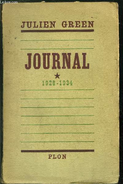 JOURNAL- TOME I / 1928-1934