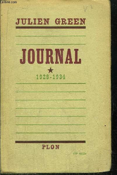 JOURNAL - TOME I - 1928-1934