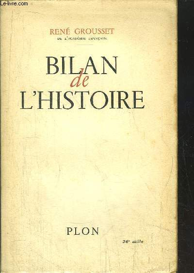 BILAN DE L'HITSOIRE