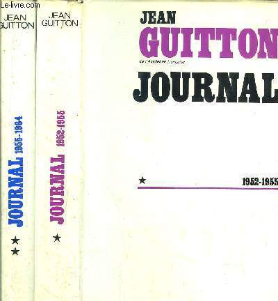 JOURNAL- 2 VOLUMES - TOMES I+II - 1952-1955 / 1955-1964
