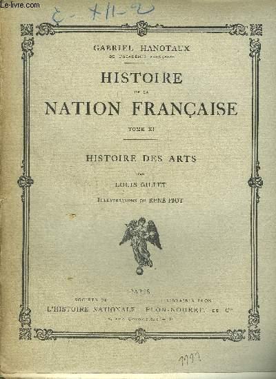 HISTOIRE DE LA NATION FRANCAISE - TOME XI - HISTOIRE DES ARTS